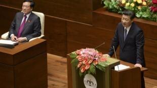 Chủ tịch Tập Cận Bình phát biểu trước Quốc hội Việt Nam ngày 06/11/2015.