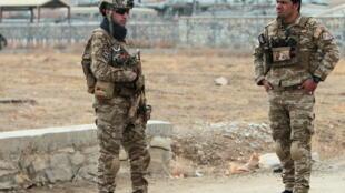 Forças de segurança afegãs, 29 de Novembro de 2020.
