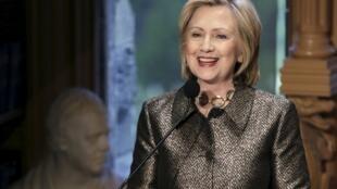 Bà Hillary Rodham Clinton. Ảnh chụp ngày 22/04/2014, nhân chuyến nói chuyện tại  Đại học Georgetown, Washington.