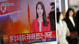 A Séoul, ce nouveau tir de missile balistique nord-coréen a fait la Une des journaux télévisés.