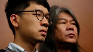 2016-11-30 honk kong china democracy MPs Nathan Law Leung Kwok-hung