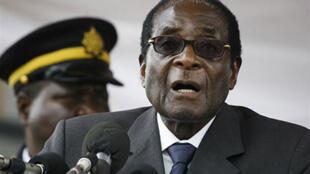 Robert Mugabe, le 23 décembre 2008.