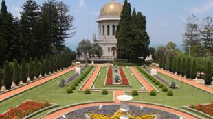 Les Jardins baha'is de Haifa, en Israël.