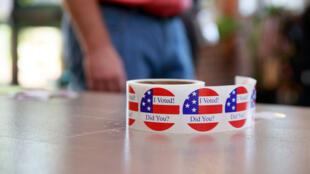 Un bureau de vote à Bloomington dans l'Indiana le 2 juin 2020, jour des élections primaires.