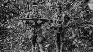 Niños guerrilleros en Colombia.
