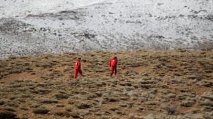 Les secouristes se déploient dans la montagne, ce 19 février.