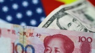 美中两国货币示意图
