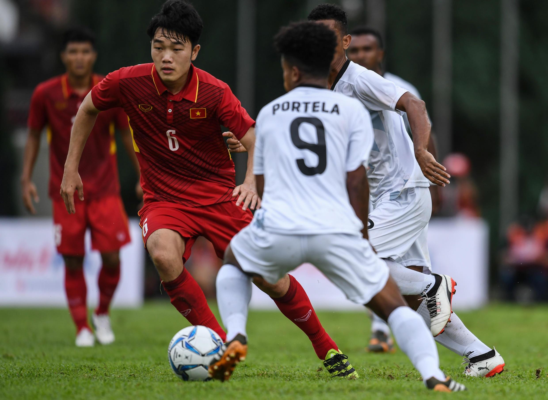 Đội U 22 Việt Nam đấu với Đông Timor, tại Kuala Lumpur Malaysia, Sea Games 29, ngày 25/08/2017.