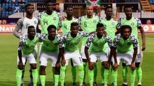 L'équipe du Nigeria face au Burundi, le 22 juin 2019.