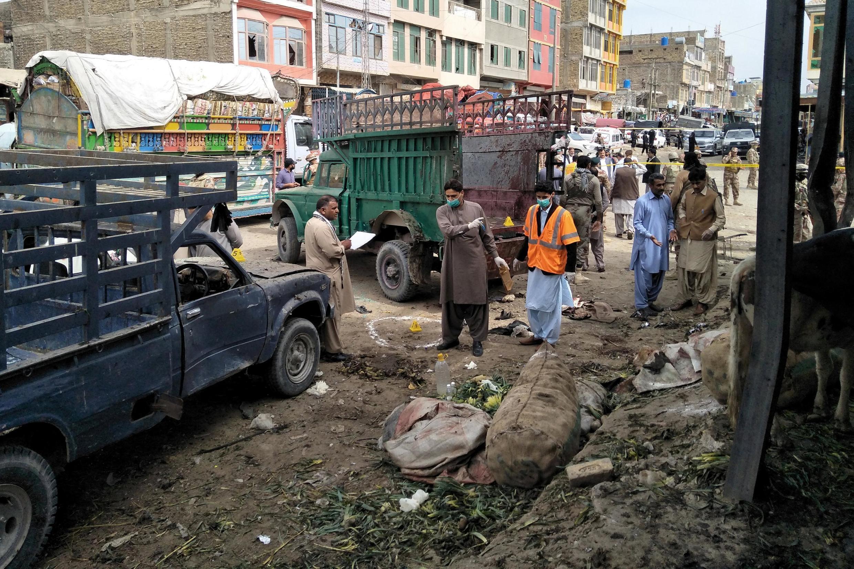 今年4月巴基斯坦一個菜市場曾發生爆炸事件