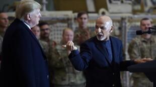 دونالدترامپ رئیس جمهور آمریکا در سفر سرزده به افغانستان