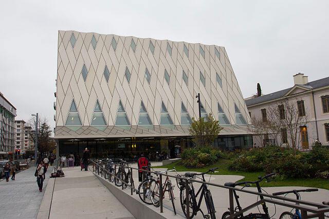 Nouveau bâtiment du Musée d'ethnographie de Genève.