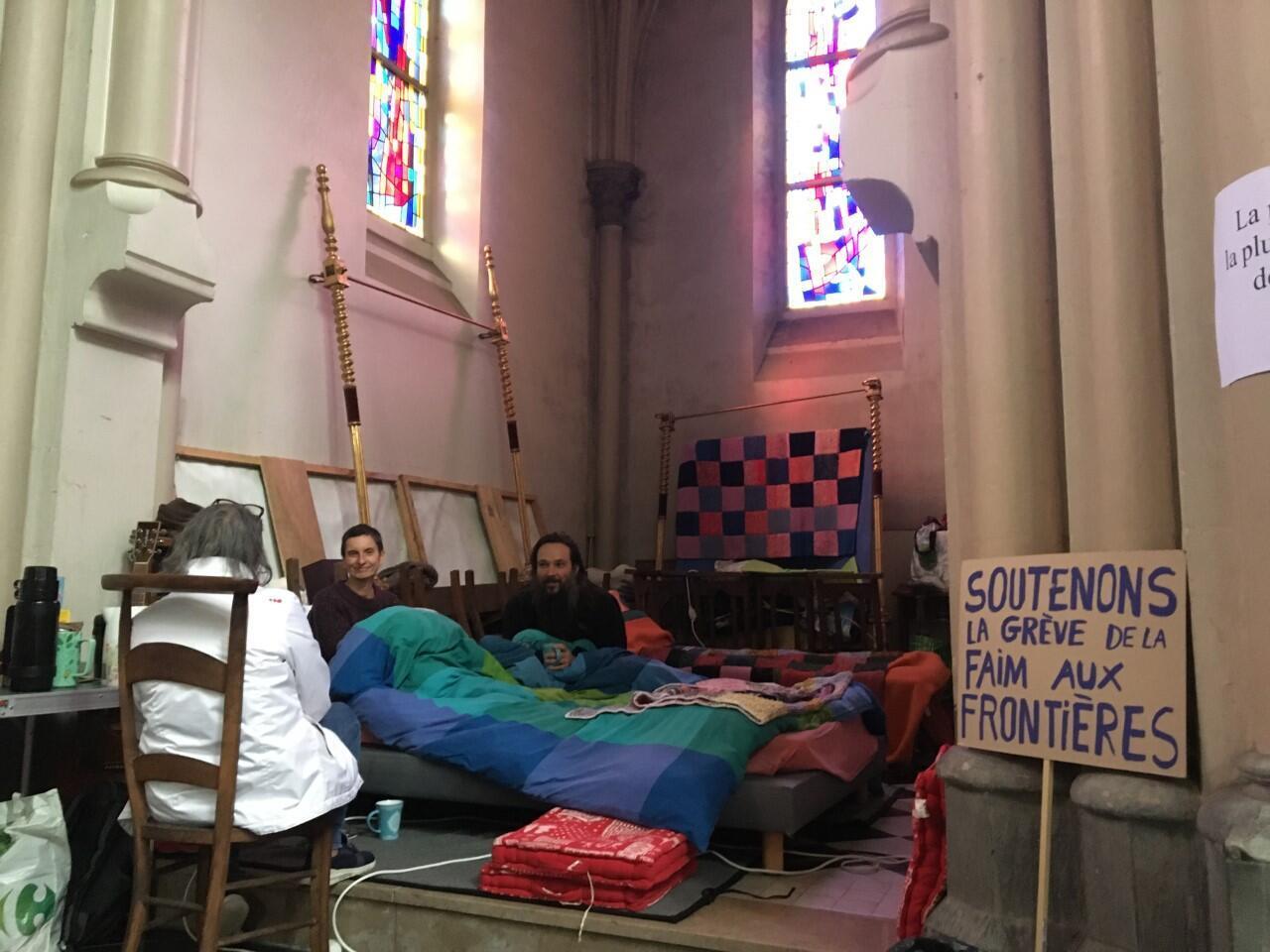 grévistes de la faim à Calais - 21 octobre 2021