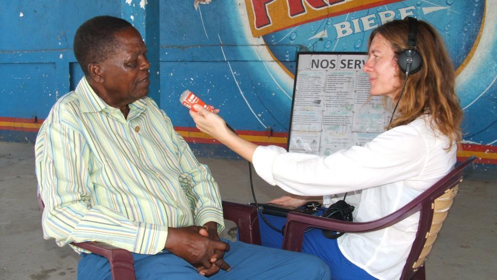Rencontre avec un soldat africain au foyer des anciens combattants de Brazzaville.