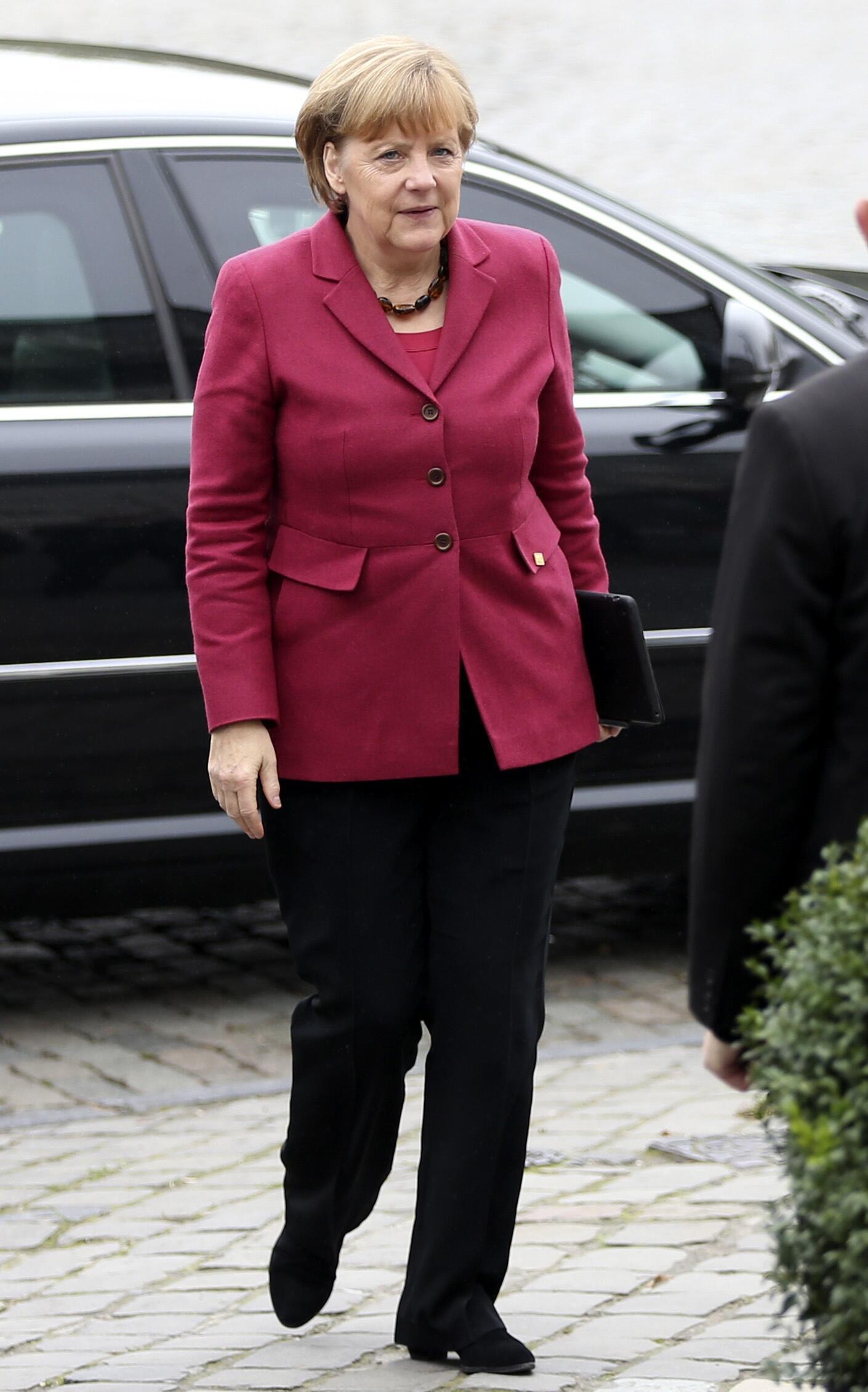 Chanceler alemã, Angela Merkel, chega à cúpula da União Europeia em Bruxelas