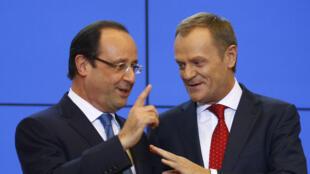 L'entrevue entre François Hollande et Donald Tusk s'est déroulée dans un climat détendu.