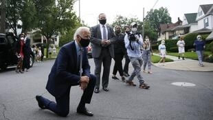 Le candidat démocrate à la présidente du 3 novembre, Joe Biden, en visite dans sa ville natale de Scranton en Pennsylvanie, le 9 juillet 2020.