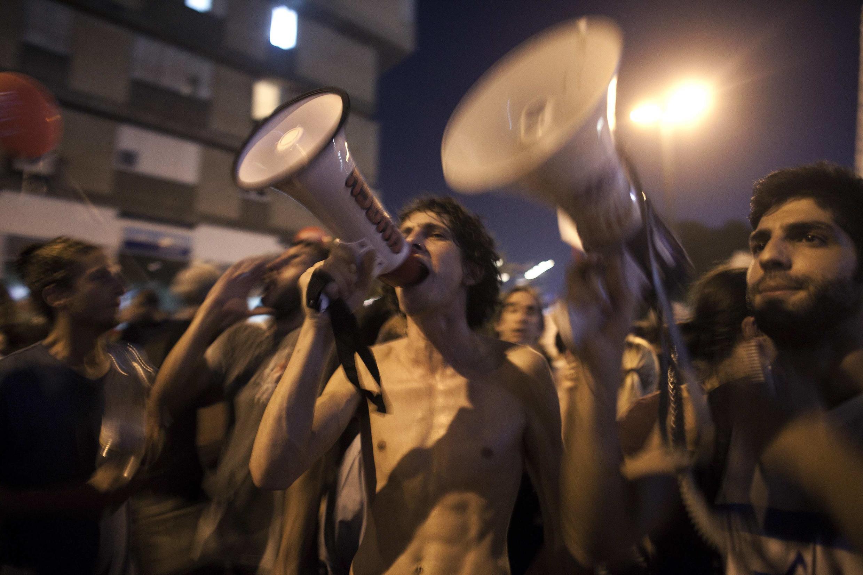 Israel, 3 de septiembre de 2011:  miles de indignados israelíes han salido a las calles en todo el país para oponerse a la carestía de la vida y a las desigualdades económicas.