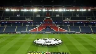 Trận đấu trong khuôn khổ giải Champions League (C1) CLB Paris Saint-Germain và Borussia Dortmund trên sân Parc des Princes không khán giả, hôm 11/03/2020.