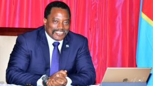 Le président de la RDC, Joseph Kabila, photographié le 3 avril 2017 à Kinshasa.