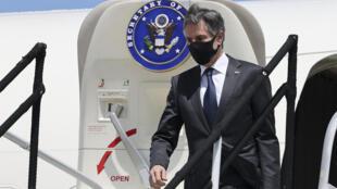El secretario de Estado de EEUU, Antony Blinken, llega a San José (Costa Rica) el 1 de junio de 2021