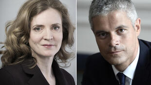 Nathalie Kosciusko-Morizet (L) has been replaced by Laurent Wauquiez (R) as vice-president of the Republicans