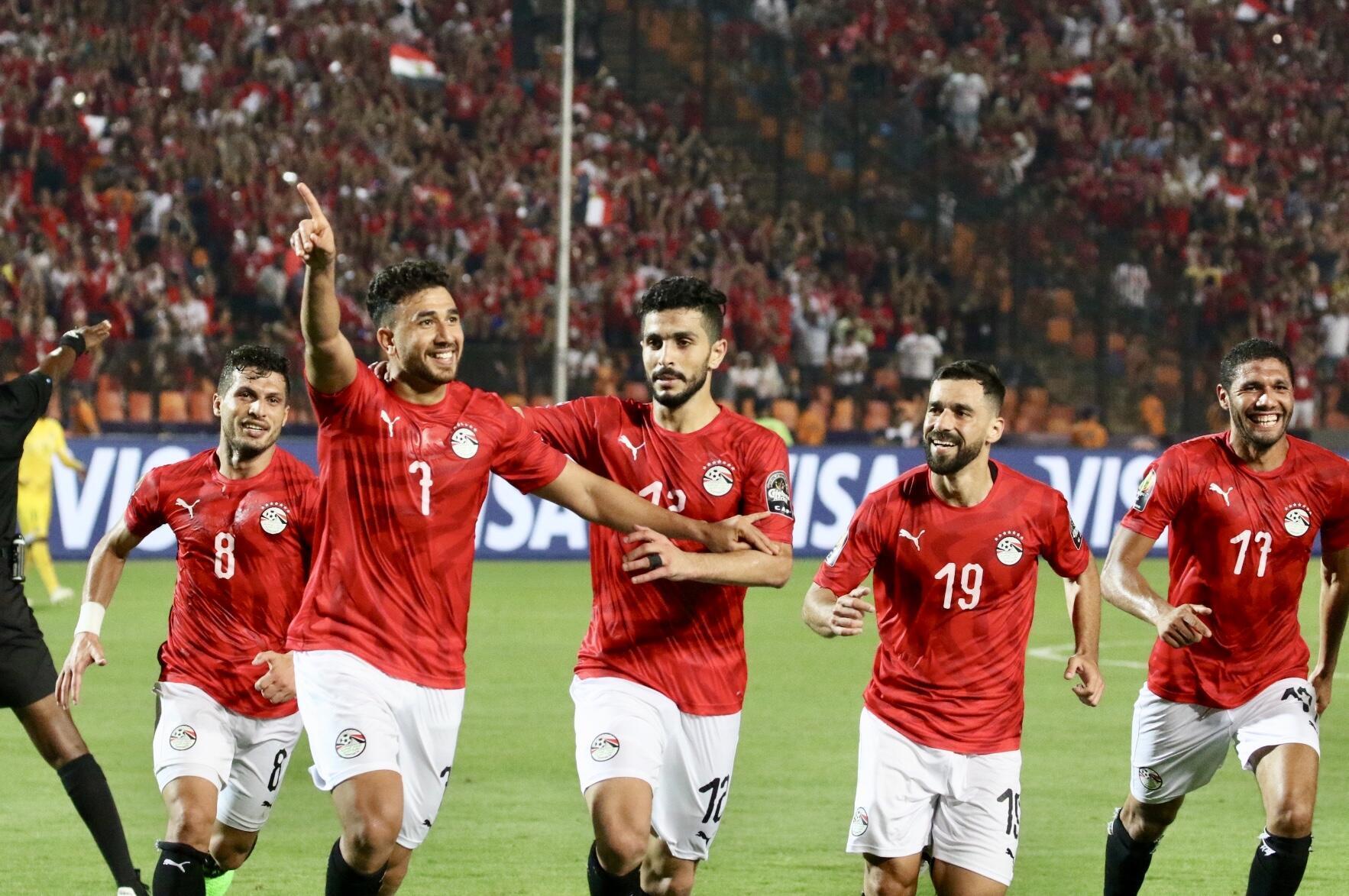 Trezeguet a marqué le premier but de la CAN 2019 pour l'Egypte.