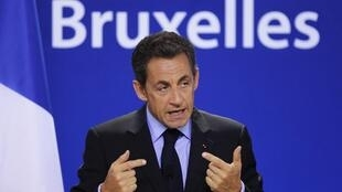 Николя Саркози на саммите Евросоюза в Брюсселе 29/10/2010