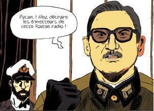 "Augusto Pinochet, en el cómic Vaincus mais vivants"", Le Lombard."