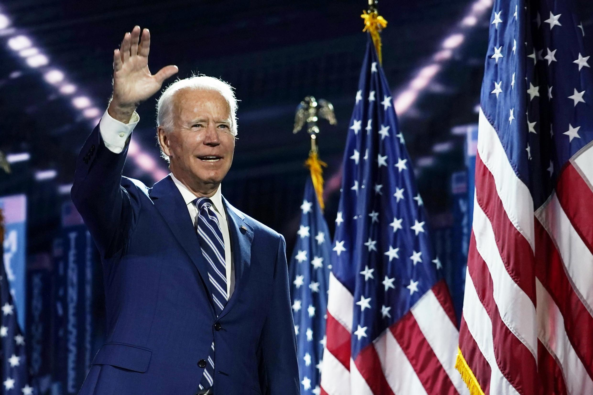 Joe Biden at the Democratic Convention on August 19, 2020