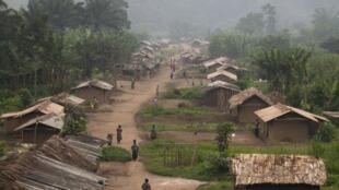Village de Lukweti, Nord-Kivu, où l'APCLS avait installé ses quartiers. Photo: août 2012.