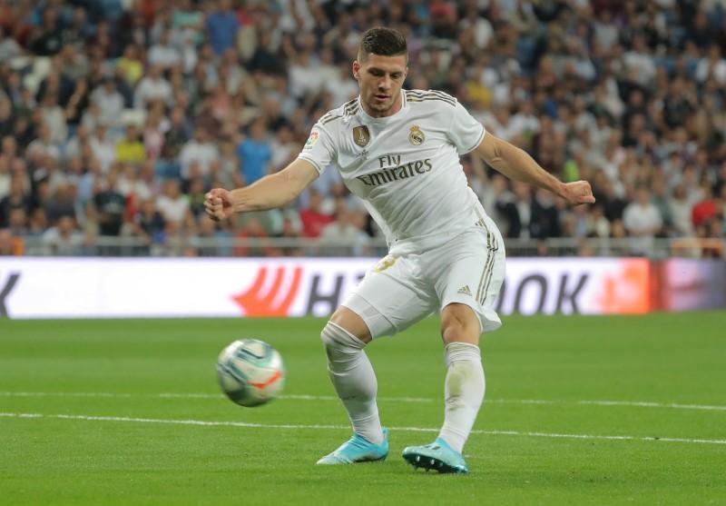 Luka Jovic, dan wasan gaba na Real Madrid.
