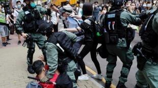 Makabialiano kati ya polisi na waandamanaji huko Hong Kong kupinga sheria tata ya usalama ya kitaifa. (Picha kumbukumbu).