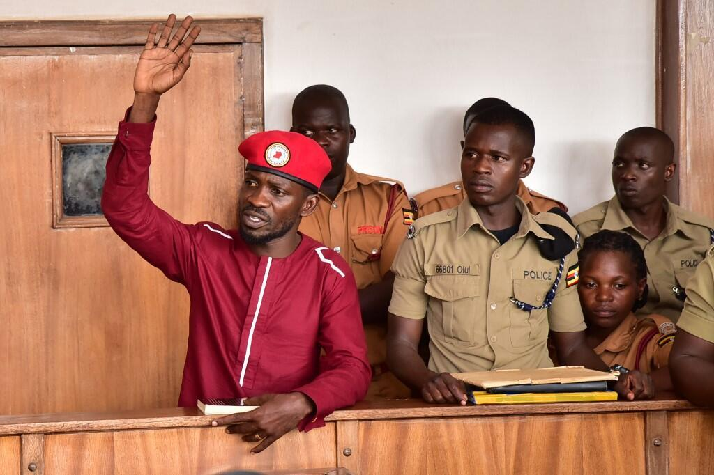 Ugandan musician and opposition leader Bobi Wine (in a Kampala court in April 2019).