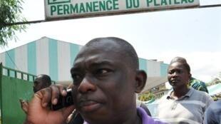Le président de la jeunesse du PDCI, Kouadio Konan Bertin, à Abidjan, le 18 février 2010.