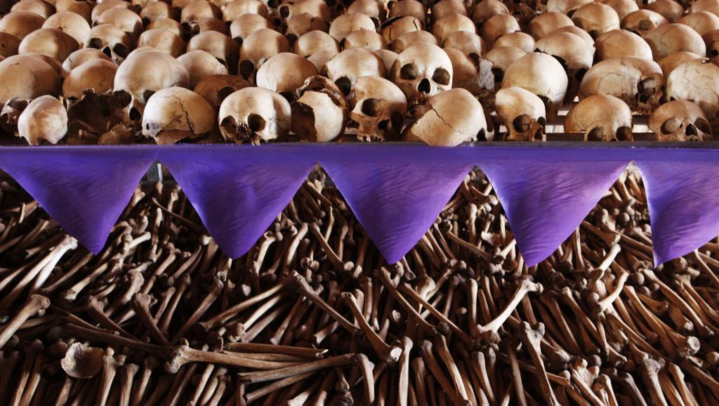 Kasusuwan mutanen da suka rasa rayukansu a tarzomar Rwanda