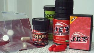 Party pills vendidas na internet e que têm BZP, abreviatura de uma droga sintética.