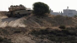 Израильский танк на границе сектора Газы 25/10/2012