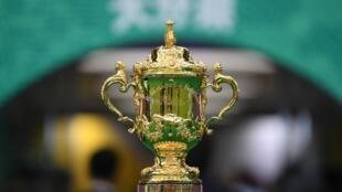 O Troféu de Campeão do Mundo de Râguebi.