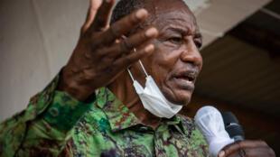 (illustration) Alpha Condé ici en meeting à Kissidougou en Guinée forestière, le 12 octobre 2020.