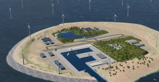 As ilhas artificiais, cercadas por eólicas, funcionarão como central de armazenamento e transmissão de energia.