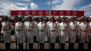 2016年7月1日,解放军驻港部队参加香港主权回归19周年纪念活动。
