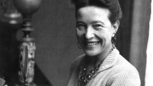 Feminist pioneer, Simone de Beauvoir, 1908-1986.