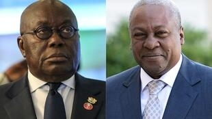 Ghana's 2020 presidential polls is a replay of old rivalries between Nana Akufo-Addo (L) and John Mahama (R).
