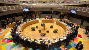 Lãnh đạo 27 nước thành viên Liên Hiệp Châu Âu họp tại Bruxelles, Bỉ, ngày 29/04/2017.