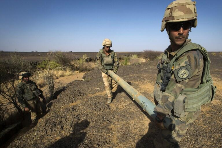 French soldier in Operation Gustav, north of Gao, Mali