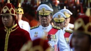 Le Premier ministre thaïlandais Prayuth Chan-ocha pendant la cérémonie de couronnement du roi Rama X, à Bangkok le 5 mai 2019.