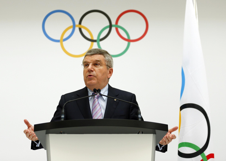 国际奥委会主席托马斯 巴赫宣布举办2022年冬奥会候选城市