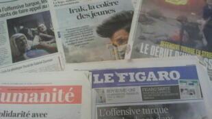 Primeiras páginas dos jornais franceses 14 de outubro de 2019