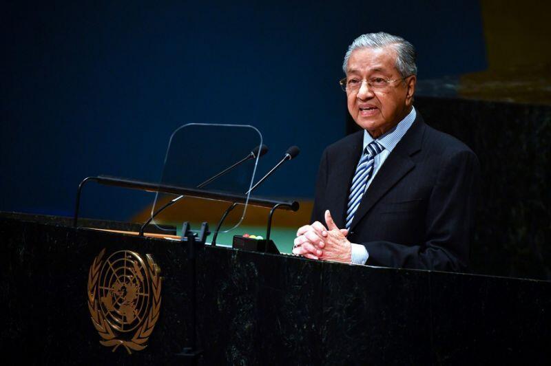 馬來西亞總理馬哈蒂爾參加聯大會議資料圖片